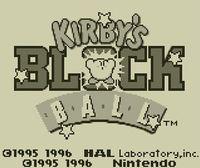 Portada oficial de Kirby's Block Ball CV para Nintendo 3DS