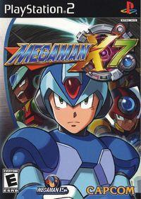 Portada oficial de Megaman X7 para PS2