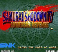 Portada oficial de Samurai Shodown 4: Amakusa's Revenge CV para Wii