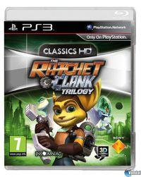 Portada oficial de The Ratchet & Clank Trilogy para PS3