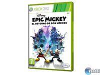 Portada oficial de Epic Mickey 2: El retorno de dos héroes para Xbox 360