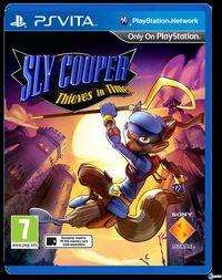 Portada oficial de Sly Cooper: Ladrones en el tiempo para PSVITA