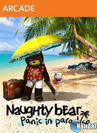 Portada oficial de Naughty Bear: Panic in Paradise XBLA para Xbox 360