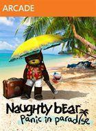 Portada oficial de de Naughty Bear: Panic in Paradise XBLA para Xbox 360