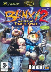 Portada oficial de Blinx 2: Dueños del Tiempo y Espacio para Xbox