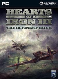 Portada oficial de Hearts of Iron III: Their Finest Hour para PC