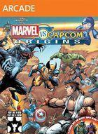 Portada oficial de de Marvel vs Capcom Origins XBLA para Xbox 360