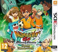 Portada oficial de Inazuma Eleven Go Chrono Stones: Llamarada y Trueno para Nintendo 3DS
