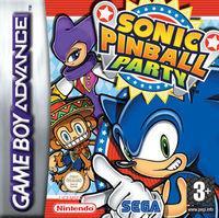 Portada oficial de Sonic Pinball Party para Game Boy Advance