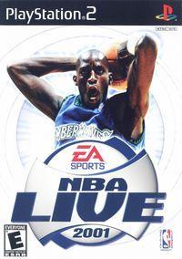 Portada oficial de NBA Live 2001 para PS2
