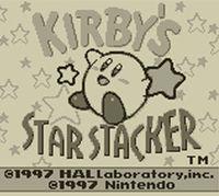 Portada oficial de Kirby's Star Stacker CV para Nintendo 3DS