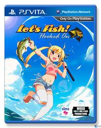 Portada oficial de Let's Fish! Hooked On para PSVITA
