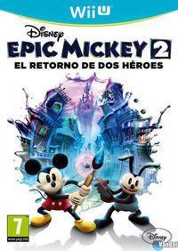 Portada oficial de Epic Mickey 2: El retorno de dos héroes para Wii U