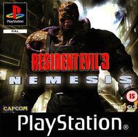 Portada oficial de Resident Evil 3: Nemesis para PS One