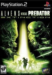 Portada oficial de Alien Versus Predator: Extinction para PS2