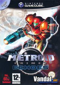 Portada oficial de Metroid Prime 2: Echoes para GameCube