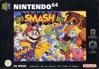 Portada oficial de Super Smash Bros para Nintendo 64