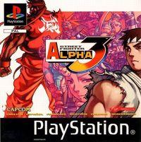 Portada oficial de Street Fighter Alpha 3 para PS One
