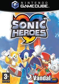 Portada oficial de Sonic Heroes para GameCube