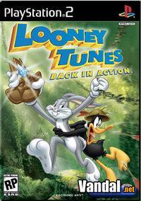 Portada oficial de Looney Tunes: De Nuevo en Acción para PS2