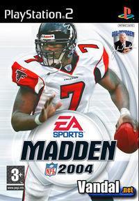 Portada oficial de Madden NFL 2004 para PS2