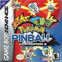 Portada oficial de Pokemon Pinball: Rubí & Zafiro para Game Boy Advance