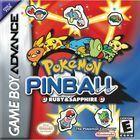 Portada oficial de de Pokemon Pinball: Rubí & Zafiro para Game Boy Advance