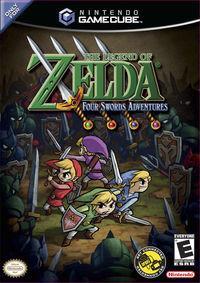 Portada oficial de The Legend of Zelda: Four Sword para GameCube