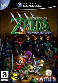 Portada oficial de The Legend of Zelda: Four Swords para GameCube