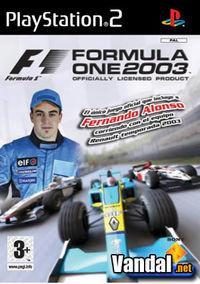Portada oficial de Formula One 2003 para PS2