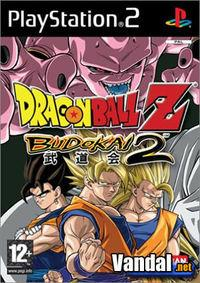 Portada oficial de Dragon Ball Z: Budokai 2 para PS2