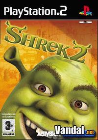 Portada oficial de Shrek 2 para PS2