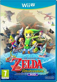 Portada oficial de The Legend of Zelda: The Wind Waker HD para Wii U