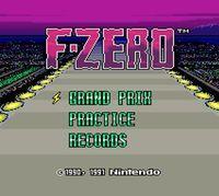 Portada oficial de F-Zero CV  para Wii U