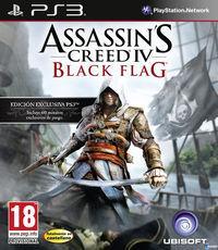 Portada oficial de Assassin's Creed IV: Black Flag para PS3