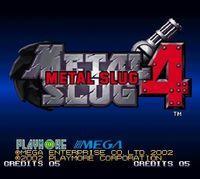 Portada oficial de Metal Slug 4 CV para Wii