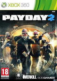 Portada oficial de Payday 2 para Xbox 360