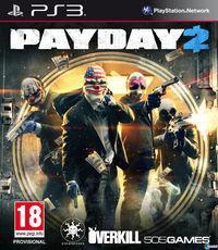 Portada oficial de Payday 2 para PS3