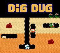 Portada oficial de Dig Dug CV para Nintendo 3DS