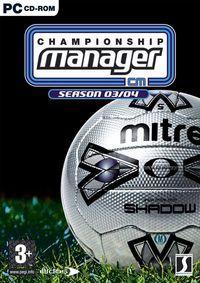 Portada oficial de Championship Manager 03/04 para PC