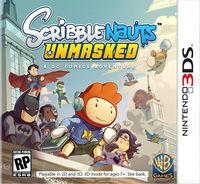 Portada oficial de Scribblenauts Unmasked: A DC Comics Adventure para Nintendo 3DS