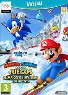 Portada oficial de de Mario & Sonic en los Juegos Olímpicos de Invierno Sochi 2014 para Wii U