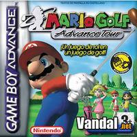 Portada oficial de Mario Golf Advance Tour para Game Boy Advance