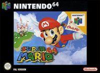 Portada oficial de Super Mario 64 para Nintendo 64