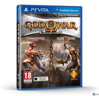 Portada oficial de God of War Collection para PSVITA