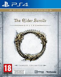 Portada oficial de The Elder Scrolls Online: Tamriel Unlimited para PS4