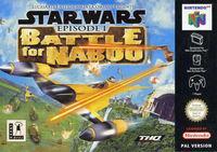 Portada oficial de Star Wars: Episode I Battle for Naboo para Nintendo 64