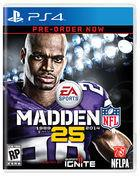 Portada oficial de de Madden NFL 25 para PS4