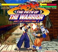 Portada oficial de The Path of the Warrior Art of Fighting 3 CV para Wii