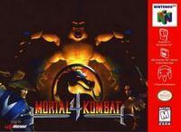 Portada oficial de Mortal Kombat 4 para Nintendo 64